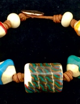Aztec-Bracelet-on-leather