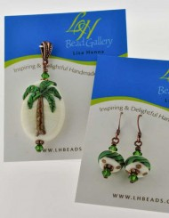 Palm Tree with matching Earrings