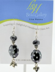 Polka Dot Black Earrings