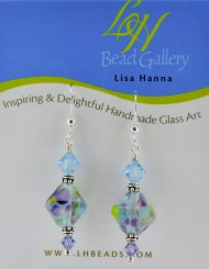 Multi-colored blue crystal Earrings