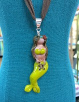 Lime Mermaid Necklace