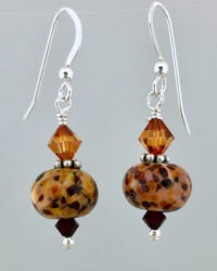 resize amber red earrings