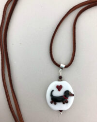 weiner dog necklace resize