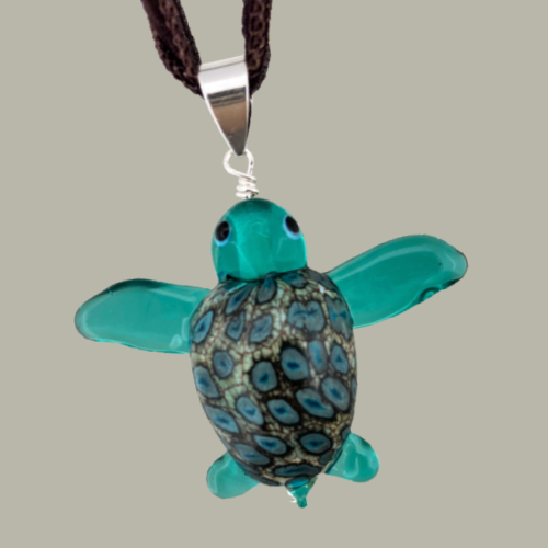 teal sea turtle